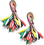 WGGE WG-026 10 Pieces and 5 Colors Test Lead Set & Alligator Clips,20.5 inches (2 Pack)