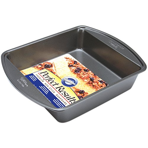 Wilton Perfect Results Premium Non-Stick Bakeware Square Cake Pan, Will Heat Evenly for Years of Quality Baking, 8-inches