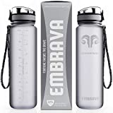 Embrava Best Sports Water Bottle - 32oz Large - Fast Flow, Flip Top Leak Proof Lid w/ One Click Open - Non-Toxic BPA Free & Eco-Friendly Tritan Co-Polyester Plastic