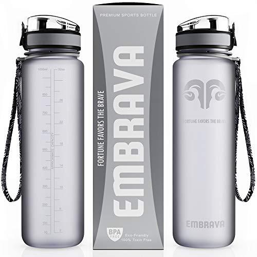 Embrava Best Sports Water Bottle - 32oz...