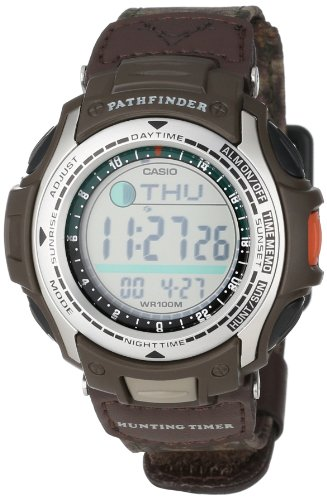 Casio Men's PAS410B-5V Pathfinder Moon Phase Hunting Timer Watch