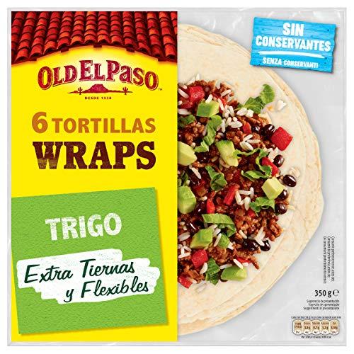 Old El Paso Tortillas de Trigo Wrap, Pack de 6 Unidades, 350