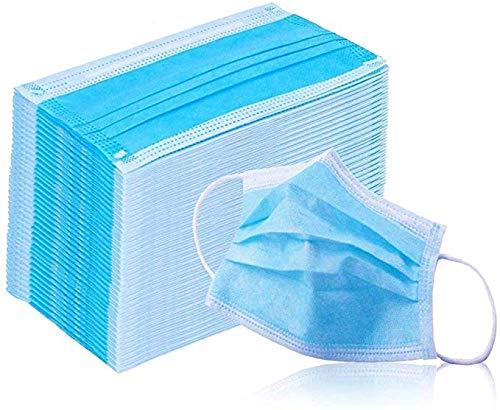 PHILOGOD Máscaras Desechables Ear Loop Médico De La Cara Máscara Quirúrgica Traspirante y comodo 3 Capas (50...