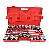 Juego de llaves de vaso de impacto estándar de 27 piezas 3/4 Drive, juego de herramientas de reparación para coche y camión