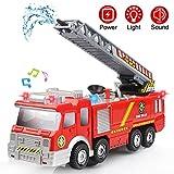 Camion de Pompier avec Lumières Sons et Fonction de Pulvérisation d'eau...