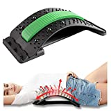 Back Stretcher for Pain Relief,Magnetic Therapy Spinal Trainer,Backright Lumbar,Back Arch Stretcher,Multi-Level Stretching Device,Spine Deck Stretching Treatment,Herniated Disc,Spine Deck(Green)