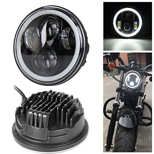 \'Neue Typ 5.75 5 3/4 Zoll LED Scheinwerfer Engel Augen für Halo Harley Davidson (ein Jahr Garantie)