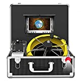 Pipe Inspection Camera, Snake Cam with DVR Drain Sewer Camera IP68 Waterproof Industrial Pipeline...