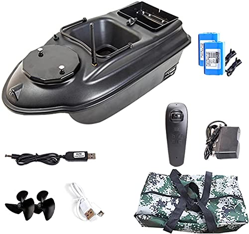 Barca da pesca Bait, GPS Smart Fishing Boat, Dual Motor 500m Range Telecomando Telecomando Alimentatore da pesca Giocattolo RC Fishing Boats Fish Finder Ship Speedboat 3KG Loading