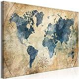 murando Cuadro en Lienzo Mapamundi 120x80 cm 1 Parte Impresión en Material Tejido no Tejido...