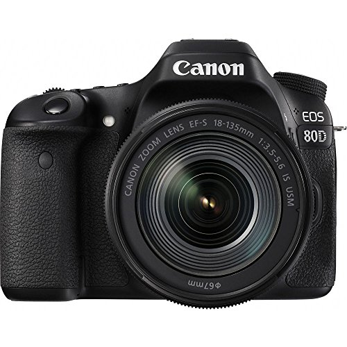 Canon EOS 80D + EF-S 18-135mm f/3.5-5.6 IS USM Kit fotocamere SLR 24,2 MP CMOS 6000 x 4000 Pixel Nero