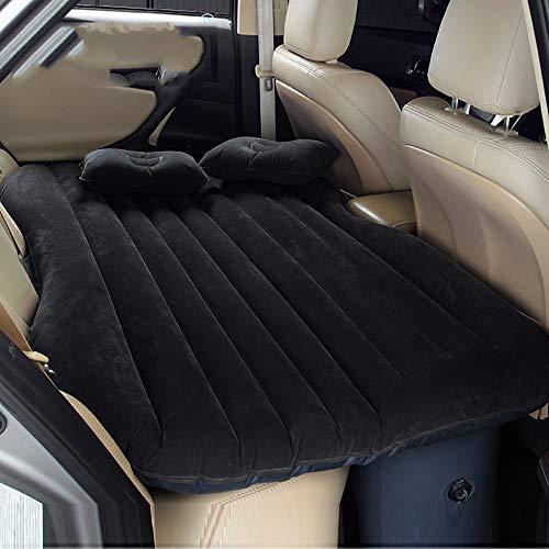 Materasso gonfiabile da auto multifunzionale pieghevole, sedile dauto ad aria + 2cuscini, Nero