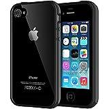 JETech Coque pour iPhone 4s et iPhone 4, Shock-Absorption et Anti-Rayures, Noir