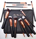 Lizzi Rose Beauty Lot de 14 pinceaux de maquillage professionnels en poil...