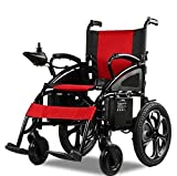 2020 Updated Electric Wheelchairs Silla de Ruedas Electrica para Adultos FDA Approved Transport Friendly Lightweight Folding Electric Wheelchair for Adults by Comfy Go (Red)