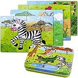 BBLIKE Jouet Puzzle en Bois pour Enfants, 4 Niveaux de...