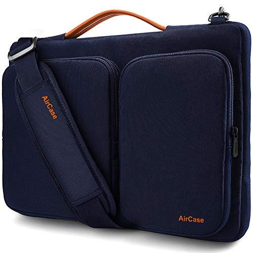 AirCase Laptop Messenger Bag for 13-Inch, 14-Inch, 15.6-Inch Splash-Proof Laptop Bag (Blue)