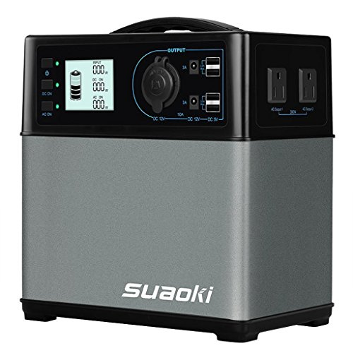 SUAOKI 400Wh/120,000mAh Portable Generator Power Station Power Supply with Quiet 300W...