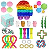 CoutureBridal 30 Pcs Sensory Fidget Toys Pack, Stress Relief and Anti-Anxiety Fidget Toy Set, Cheap...