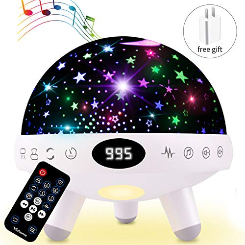 Night Light for Kids Star Projector with Music White...
