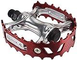 SE Bear Trap BMX Bike Pedals RED