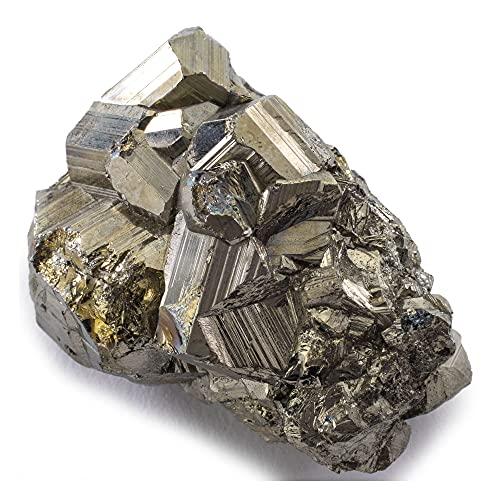 KALIFANO Natural Pyrite Cluster - High Energy Iron Piedra...