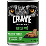 CRAVE High Protein Grain Free Adult Wet Dog Food Turkey Paté, 12.5 oz. (Pack of 12)