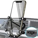 車載スマホホルダー エアコン 吹き出し口用 ジェットブラック departure ssf-001 iPhone スマホ対応 ワンタッチ 横向き可能 カーホルダー スマートフォンホルダー 携帯ホルダー 重力式自動開閉 充電 ワイヤレス 吸盤 ワンタッチ