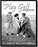 ShopForAllYou Vintage Decor Signs Three Stooges Play Golf Metal Tin Sign TV Funny Humor Retro Garage Bar Decor New