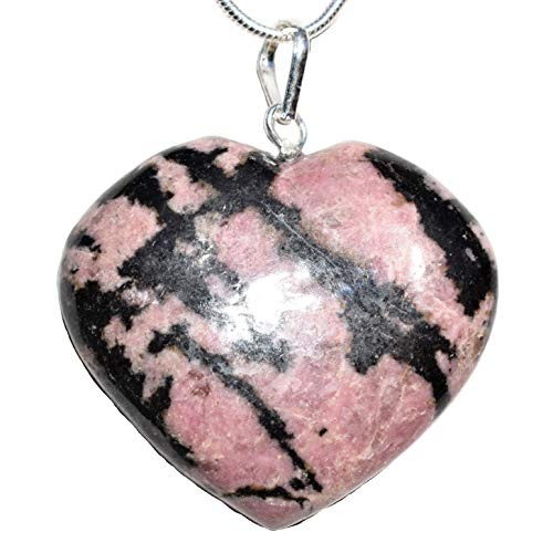 Zenergy Gems Charged Natural Himalayan Rhodonite Heart...
