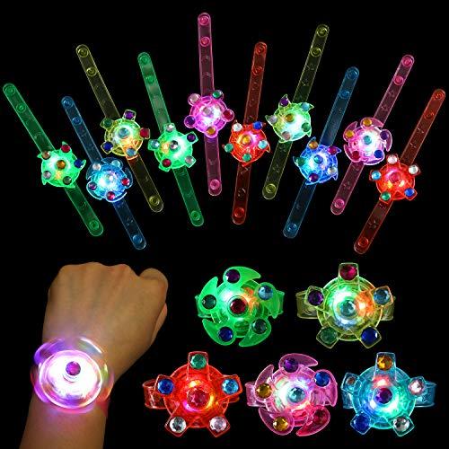 SCIONE Party Favors for Kids 24 Pack Light Up Bracelets...