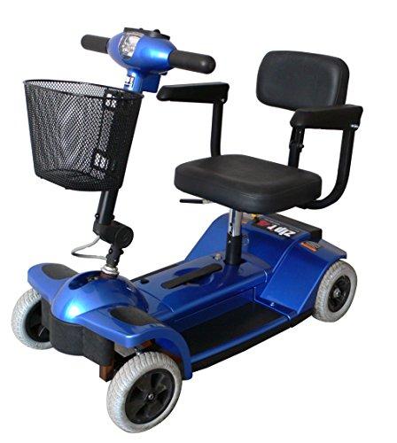 Zipr Mobility ZIPR4XTRABLUE 4 Wheel Upgraded Travel Scooter - Blue
