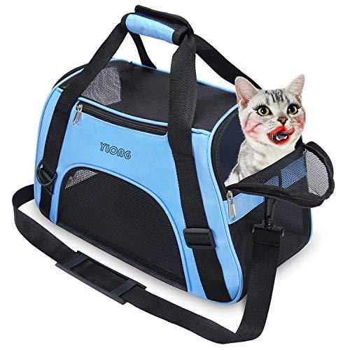 YLONG Sac de transport pour animal domestique approuvé par les compagnies aériennes - Côtés souples - Confortable - Portable et pliable - Approuvé par les compagnies aériennes