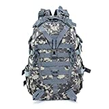 Qiutianchen Mochila de camping de 40 l, para hombre, mochila de viaje, mochila de escalada, senderismo, al aire libre (color: acu, tamaño: 30 40 L)