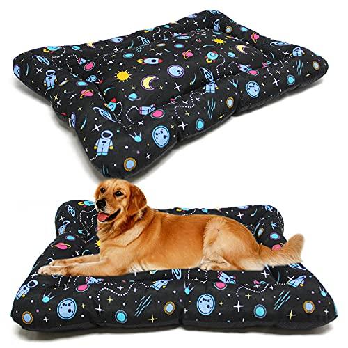 BPS BPS-14094UN - Materassino per cani e gatti, antiscivolo, dimensioni S/M/L, portatile, materasso per divano, cuscino morbido (S: 60 x 45 cm, Universum)