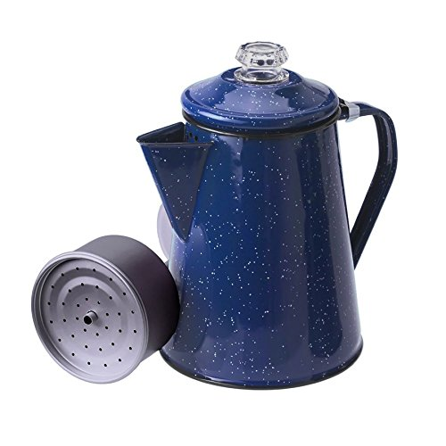 GSI Outdoors 8 Cup Enamelware Percolator Coffee Pot for Campsite,...