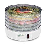 Electric Food Dehydrator Machine, Professional Multi-Tier Kitchen Food Appliances, Meat or Beef Jerky Maker, Fruits and Vegetable Dryer with 5 Stackable Trays, High-Heat Circulations- NutriChef PKFD12