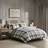 Woolrich Plaid Bed Comforter Set Ultra Soft Microfiber 3 Pieces Bedding Sets – Bedroom Comforters, Full/Queen, Grey