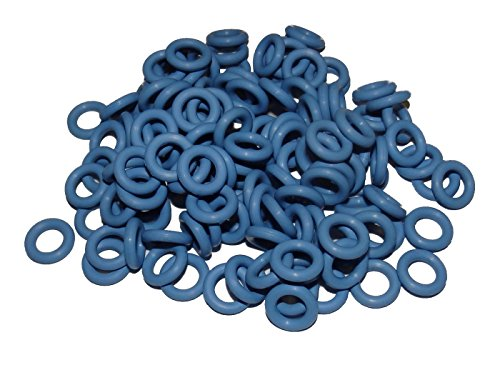 Captain O-Ring - Rubber Oring Keyboard Switch Dampeners Blue [40A-R 0.4mm] Reduction (135 pcs w/Screen Cloth)