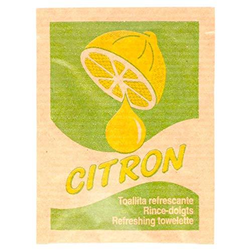 """García de Pou 221.77 Toallitas Refrescantes """"Citron"""" Kraft 6X8 Cm Natural Celulosa (pack de 500)"""
