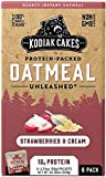 Kodiak Cakes Strawberries & Cream Protein-Packed Oatmeal Packets, Box of 6 Instant Oatmeal Packets, NON GMO, 12 Grams of Protein, Kosher Dairy