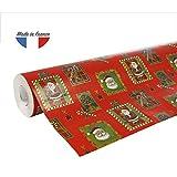 Clairefontaine 211302C Rouleau papier cadeau Alliance 60g 50x0,70m Motif Père...