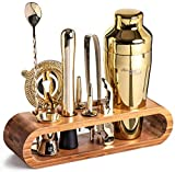 Mixology Bartender Kit: 10-Piece Bar Tool Set with Stylish Bamboo Stand | Perfect Home Bartending...