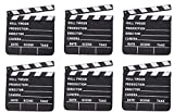 Rhode Island Novelty 7 Inchx 8 Inch Hollywood Movie Clapboards Set of 6