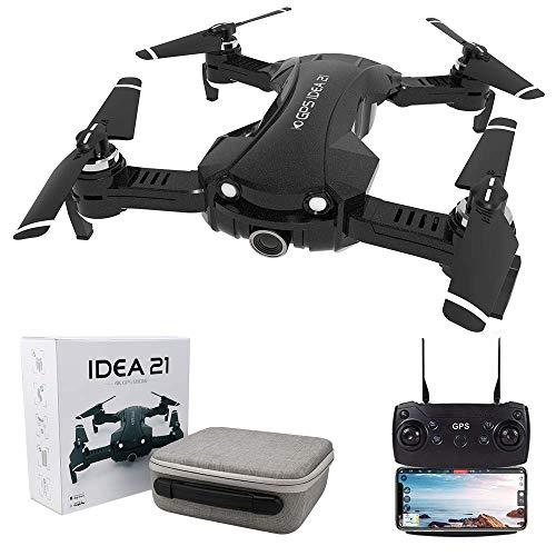 le-idea 21 - Drone GPS con Telecamera 4k, Pieghevole Mini Drone FPV WiFi 5GHz , Fotocamera 120 FOV,...