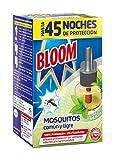 Bloom Fragancia Menta Insecticida Electrico Líquido contra mosquitos común y...