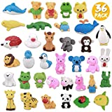 Greentime 36 Animal Erasers, Puzzle Toys Erasers Assembly Animals Erasers 3D Mini Erasers for Back-to-school Gifts Classroom Supplies Party Favors Games Prizes Carnival Gifts Easter Basket Stuffer