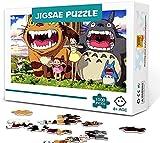 Tollk Lesse Parlez Moins de Puzzle 1000 pièces - Puzzle Totoro, 1000 pièces Puzzles pour Adultes Enfants, Totoro coloré Totoro Sticks (70x50 cm) pour Adultes et Enfants de 14 Ans