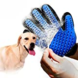 PICKVILL Efficient Pet Hair Remover Mitt Enhanced 5 Finger Design Gentle Deshedding Brush Gloves for Dog and Cat with Long and Short Fur (Multicolour)