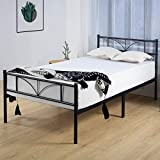 BedStory Twin Bed Frame, 14 Inch Single Metal Platform Bed Frame with Headboard, Easy Assembly Mattress Foundation, No Box Spring Needed, No Noise, Non-Slip Design - Twin Size